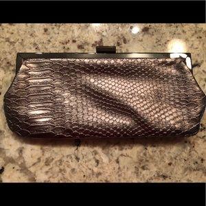 Bronze Snakeskin Evening Bag